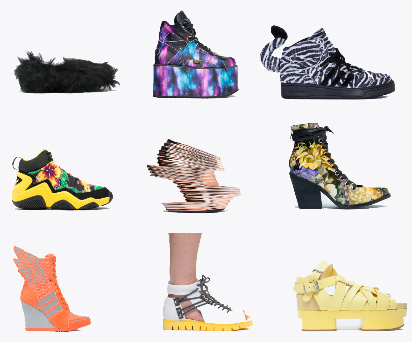 ATHLETIC WINGS WEDGE BY ADIDAS ORIGINALS X JEREMY SCOTT 179.95